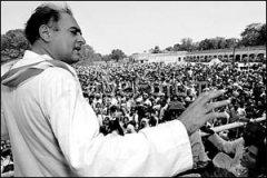 印度前总理拉吉夫·甘地遇刺身亡