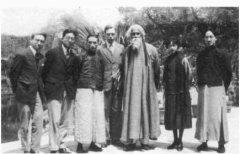 印度诗人泰戈尔访问中国